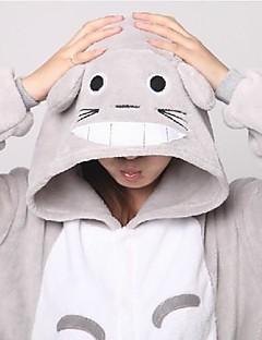 billige Kigurumi-Kigurumi-pysjamas Kat Totoro Onesie-pysjamas Kostume Korallfleece Grå Cosplay Til Voksne Pysjamas med dyremotiv Tegnefilm Halloween