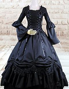 billiga Lolitamode-Gotisk Lolita Lolita Dam Klänningar Cosplay Vit Balklänning Långärmad Lång längd Plusstorlekar Anpassad Kostymer