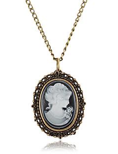 Damen Modeuhr Halskettenuhr Quartz Legierung Band Retro Bronze