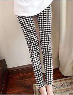 Kadın Basit Orta Bel Streç Pantolonlar Pantolonlar Pantolon Pötikare