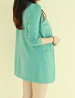 Co Co Zhang Women's Round Neck Bodycon Solid Color Overcoat