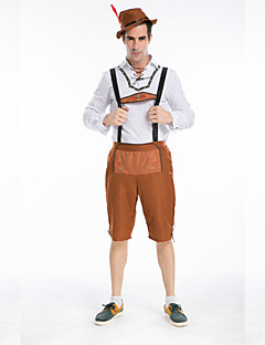 Bavarian Guy German Lederhosen Beer Men's Oktoberfest Cosplay Costumefor Carnival