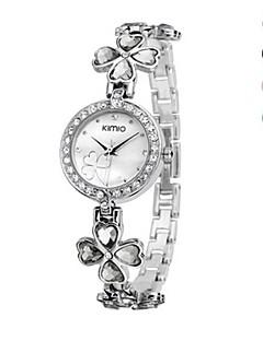 billige Armbåndsure-Dame Armbåndsur Quartz Imiteret Diamant Legering Bånd Analog Mode Elegant Sort / Hvid / Blåt - Grøn Blå Lys pink