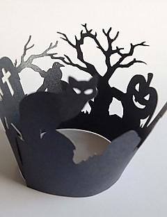 60カップ8.25 * 8.25 * 5.08cmカップケーキケーキ装飾のためのカップケーキラッパー