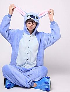 billige -Kigurumi-pysjamas Blå Monster / Monster Onesie-pysjamas Kostume Flanell Fleece Blå Cosplay Til Voksne Pysjamas med dyremotiv Tegnefilm