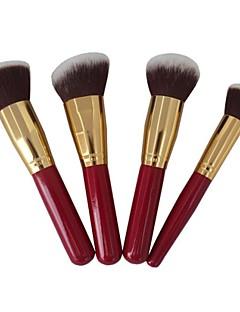 baratos -4pçs Pincéis de maquiagem Profissional Conjuntos de pincel Pêlo Sintético / Escova de Fibra Artificial Pincel Grande