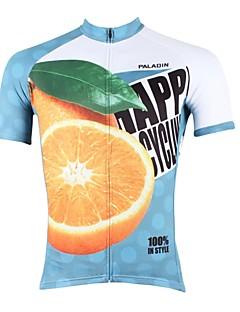 ILPALADINO サイクリングジャージー 男性用 半袖 バイク ジャージー トップス 速乾性 抗紫外線 高通気性 ポリエステル100% 自然、風景 春 夏 レジャースポーツ サイクリング/バイク ブルー