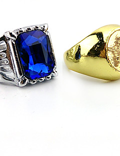 cheap Anime Cosplay-Jewelry Inspired by Black Butler Ciel Phantomhive Anime Cosplay Accessories Ring Artificial Gemstones Men's New Hot
