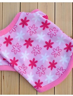 billiga Hundkläder-Katt Hund Tröja Hundkläder Blomma Rosa Polär Ull Kostym För husdjur Herr Dam Ledigt/vardag