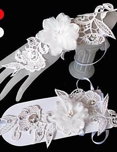 お買い得  レース/ボイル手袋-チュール手首の長さの手袋花嫁の手袋古典的な女性的なスタイル