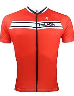 ILPALADINO 싸이클 져지 남성용 짧은 소매 자전거 져지 탑스 빠른 드라이 자외선 방지 통기성 100% 폴리에스터 패치 워크 봄 여름 레저 스포츠 사이클링/자전거