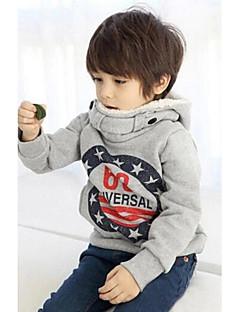 billige Hættetrøjer og sweatshirts til drenge-Hættetrøje og sweatshirt Galakse Vinter Forår Efterår Langærmet Grå