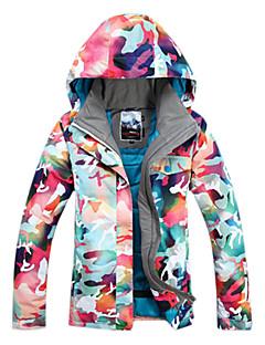 お買い得  アウトドアウェア-GSOU SNOW 女性用 スキージャケット 防水 保温 防風 耐久性 高通気性 スキー ウィンタースポーツ ポリエステル100%