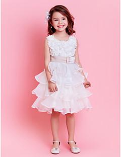 baratos Vestidos de Dia-Vestido de baile com vestido de bola vestido de menina - organza pérola sem mangas com pérola