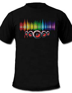 LED trička Zvukem aktivované LED světla Textil stylové 2 x AAA baterie