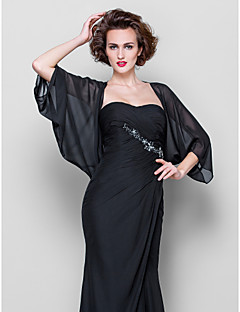 cheap Wedding Wraps-Chiffon Wedding Party Evening Casual Women's Wrap With Draped Coats / Jackets