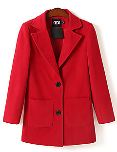 Castiel Barry Women's  New Double Buckle Lapel Wool Coat