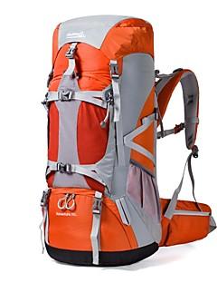 billiga Ryggsäckar och väskor-70L Ryggsäckar / Ryggsäck - Vattentät, Regnsäker, Bärbar Camping, Skidåkning, Klättring Nylon Orange, Röd, Blå
