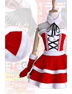 """billige Anime Kostymer-Inspirert av Date A Live Kurumi Tokisaki Anime  """"Cosplay-kostymer"""" Cosplay Klær / Kjoler Lapper Ermeløs Kjole / Krage / Hansker Til Dame Halloween-kostymer"""