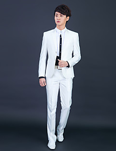 Tuxedos Slim Fit Slim Peak Single Breasted Two-buttons Polyester Solid