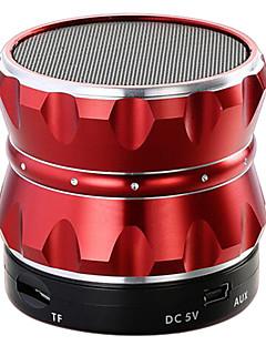 billige Bluetooth høytalere-Utendørs Innendørs Dockingsstasjon Bluetooth Bærbar Trådløs Bluetooth 3.0 3,5 mm AUX Høyttaler til bokhylle Gull Svart Sølv Rød Blå