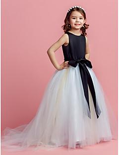 Ball kjole feie / børste tog blomst jente kjole - tulle juvel hals ved lan ting bride®