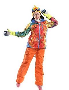 女性用 スキージャケット&パンツ 防水 保温 防風 防塵 耐久性 高通気性 静電気防止 耐衝撃性の 低摩擦 スキー ウィンタースポーツ ポリエステル100%