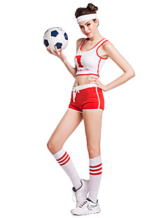 Cheerleader Costumes Outfits Stage Props Women's Performance Training Polyester Sleeveless