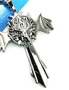 billige Videogame Cosplay Tilbehør-Smykker Inspirert av Final Fantasy Cosplay Anime / Videospil Cosplay Tilbehør Halskjede Sølv Legering Mann