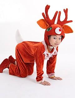 Kigurumi Pyjamas Reinsdyr Kostume Pleuche Cosplay Kostumer Party-kostyme Trikot / Heldraktskostymer Cosplay Festival / høytid Pysjamas