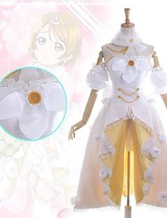 """billige Anime Kostymer-Inspirert av Elsker live Hanayo Koizumi Anime  """"Cosplay-kostymer"""" Kjoler Lapper Ermeløs Kjole Krage Armbind Shorts Til Kvinnelig"""