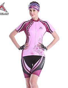 Mysenlan Sykkeljersey med shorts Dame Kort Erme Sykkel Ermer Jersey Shorts KlessettFort Tørring Anatomisk design Ultraviolet