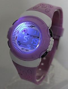 billige Børneure-Børne Modeur Digital Watch Japansk Quartz Digital 30 m Afslappet Ur Silikone Bånd Digital Sej Lilla - Lilla Et år Batteri Levetid