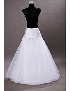 bruiloft slips vloer-lengte a-lijn slip met bruiloft accessoires