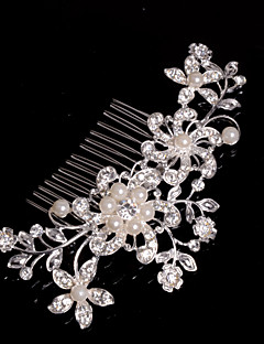 cheap Homecoming 2018-Alloy Hair Combs / Headwear with Floral 1pc Wedding / Special Occasion / Casual Headpiece