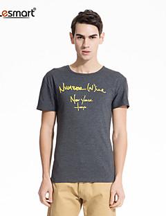 billige -lesmart® mænds bomuld trykt kort ærme t-shirts