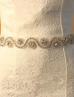 cheap Wedding Ribbons and Sashes-Lace Wedding Party / Evening Sash With Rhinestone Women's Sashes