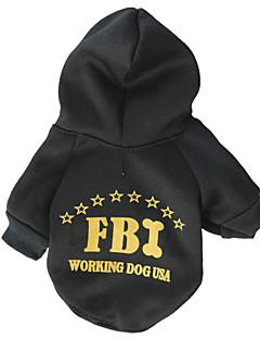 baratos -Gato Cachorro Camisola com Capuz Roupas para Cães Fashion Polícia / Militar Preto Ocasiões Especiais Para animais de estimação