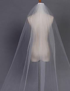 Menyasszonyi fátyol Egykapcsos Kápolna fátyolok Ceruza hegye 280 cm Tüll Fehér Elefántcsontszín