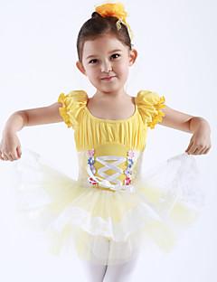 tanie Stroje baletowe-Balet Suknie / Sukienki i spódnice / Tutus i spódnice Szkolenie / Wydajność Bawełna / Tiul Z krótkim rękawem Księżniczka Ubierać