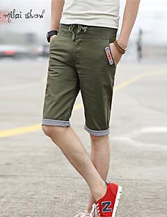 billige Herrebukser og -shorts-Herre Tynn Shorts Bukser Bomullsblanding Ensfarget