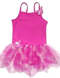 tanie Stroje baletowe-Balet Suknie Dla dzieci Trening Poliester Spandeks Pofałdowany 1 sztuka Bez rękawów Trykot opinający ciało