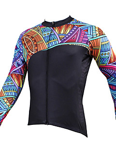 cheap Cycling Jerseys-ILPALADINO Cycling Jersey Men's Long Sleeves Bike Jersey Top Winter Bike Wear Quick Dry Ultraviolet Resistant Breathable Compression
