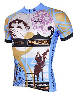 billige Sykkelklær-ILPALADINO Herre Kortermet Sykkeljersey - Grå Sykkel Jersey, Fort Tørring, Ultraviolet Motstandsdyktig, Pustende Polyester