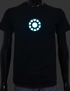 Akku im Lieferumfang enthalten beleuchten oben geführte el T-Shirt Iron Man 1 verstellbarer Sound aktiviert und mehreren Blitzfunktionen