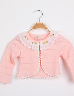 女の子の コットン混 セーター&カーデガン,春 / 秋 ピンク / ホワイト