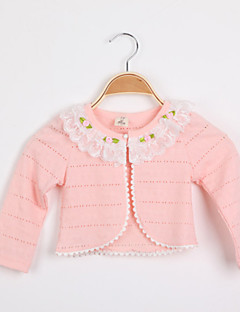 Girls' Sweater & Cardigan Spring Fall Long Sleeve White Pink