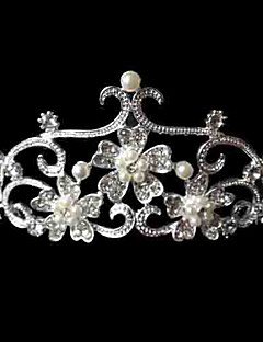 cheap Fashion Headpieces-Alloy/Imitation Pearl/Rhinestone Tiaras Wedding/Party/Daily Headpieces/Hairjewelry 1pc