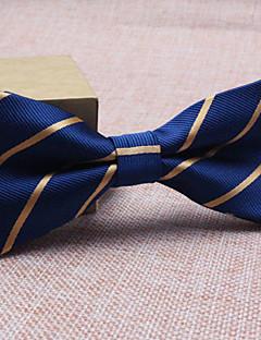 billige Udsalg-Herre Fest / Kontor / Grunnleggende Sløyfe Stripet Polyester / Blå