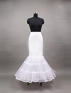 billiga Brudklänningsunderkjol-Bröllop Speciellt Tillfälle Dagligen Underklänningar Polyester Golvlång Sjöjungfru Underkjol Med